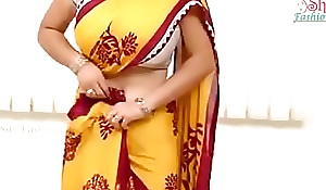 Saree aunty magnificent boobs