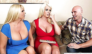 Busty alura jenson have sex in Threesome