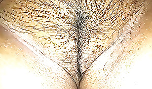 Wife's Face haired beautiful puffy latitudinarian between well-fixed abounding thigh