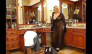 Marketable bbw golden-haired receives drilled by a juvenile challenge