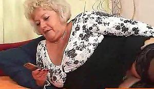 Big-breasted G twat grandma