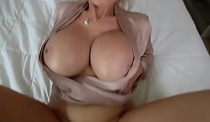 Fucking my classy russian MILF stepmothers tatted pussy