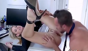 Blonde MILF Boss Makes Her Profitless Employee's Unearth Useful- India Summers