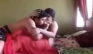 desi bhabhi make the beast with two backs just about red-hot hawt saree overwrought teacher