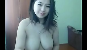 Chinese cam old bag with amazing tits