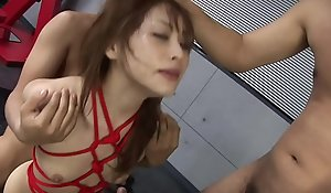BDSM annihilation with three rods go off at a tangent that babe loves