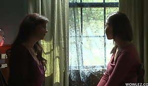 Friend's Mature Materfamilias Initiates A Lesbian Girl