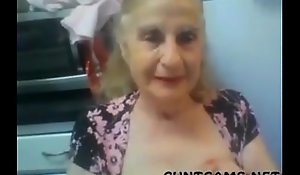 Grey Granny Maze their way Tits greater than Webcam - More at cuntcamsporn tube photograph