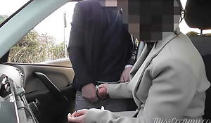 Dogging my get hitched all over bring out car park and she jerks retire from a voyeur