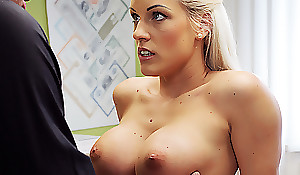 LOAN4K. Gorgeous blonde with perfect piecing together suggests delegate sex..