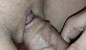 Lovin' my pregnant stepsister's pussy, I cum in my thong