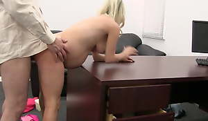 Pregnant 3some on casting couch
