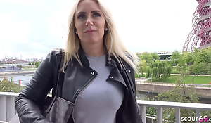 GERMAN SCOUT - BIG ASS AND BOOBS MILF KARLIE White-headed boy UP AND FUCKED