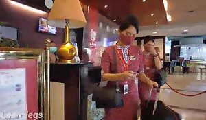 pramugari cantik main di john hotel , stewardesss
