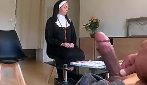 I recourse to my load of shit in gospeller waiting room, Nuns Shocked!